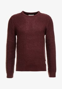 Jack & Jones - JCOSTANFORD CREW NECK NOOS - Neule - fudge - 4