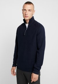 Jack & Jones - JORKLOVER HIGH NECK - Jumper - navy blazer - 0