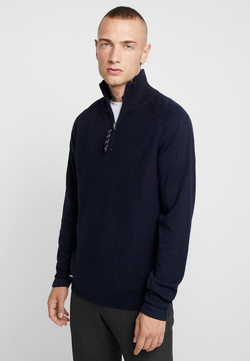Jack & Jones - JORKLOVER HIGH NECK - Jumper - navy blazer