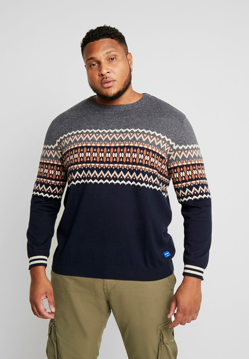 Jack & Jones - JORMADISON - Neule - grey melange