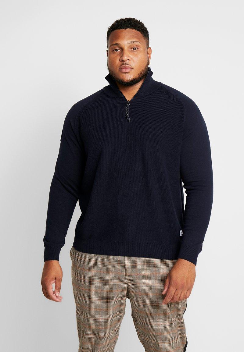 Jack & Jones - JORKLOVER HIGH NECK - Pullover - navy blazer