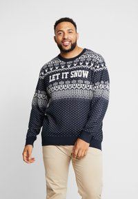 Jack & Jones - JORJINGLE CREW NECK - Jersey de punto - sky captain - 0