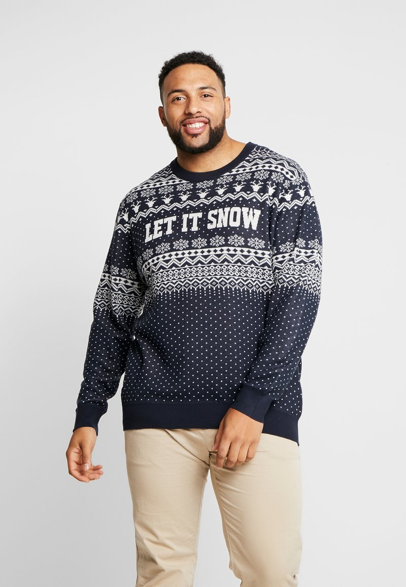Jack & Jones - JORJINGLE CREW NECK - Jersey de punto - sky captain