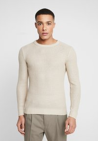 Jack & Jones - JORFLOW CREW NECK - Pullover - feather gray - 0