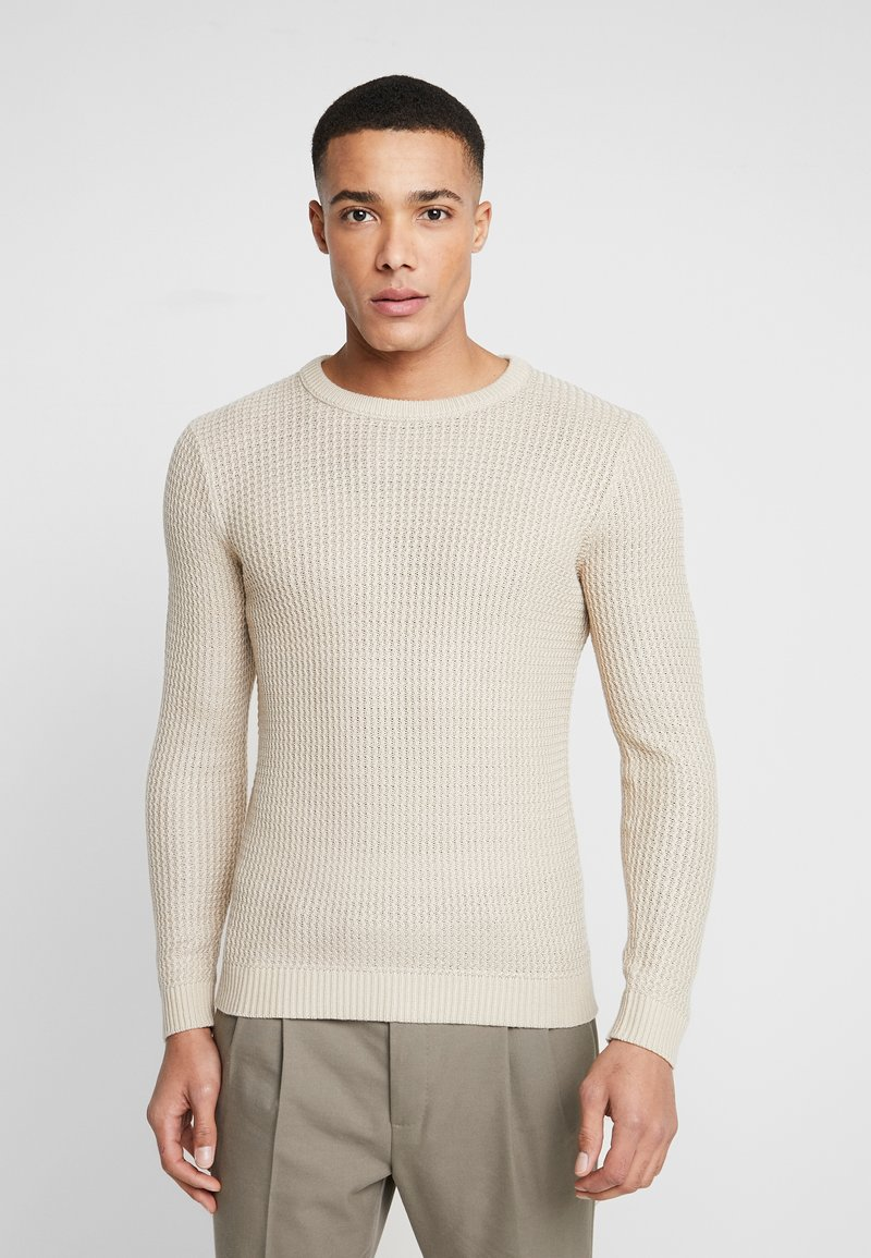 Jack & Jones - JORFLOW CREW NECK - Pullover - feather gray