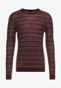Jack & Jones - JORFLOW CREW NECK - Neule - port royale/stripe - 5