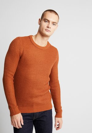 JORFLOW CREW NECK - Jumper - mocha bisque