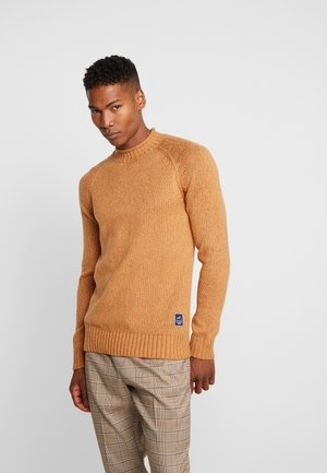 JORCLIVE KNIT CREWNECK - Pullover - tigers eye