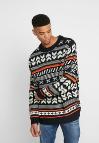 Jack & Jones - JORWINTER CREW NECK  - Jumper - tap shoe - 0