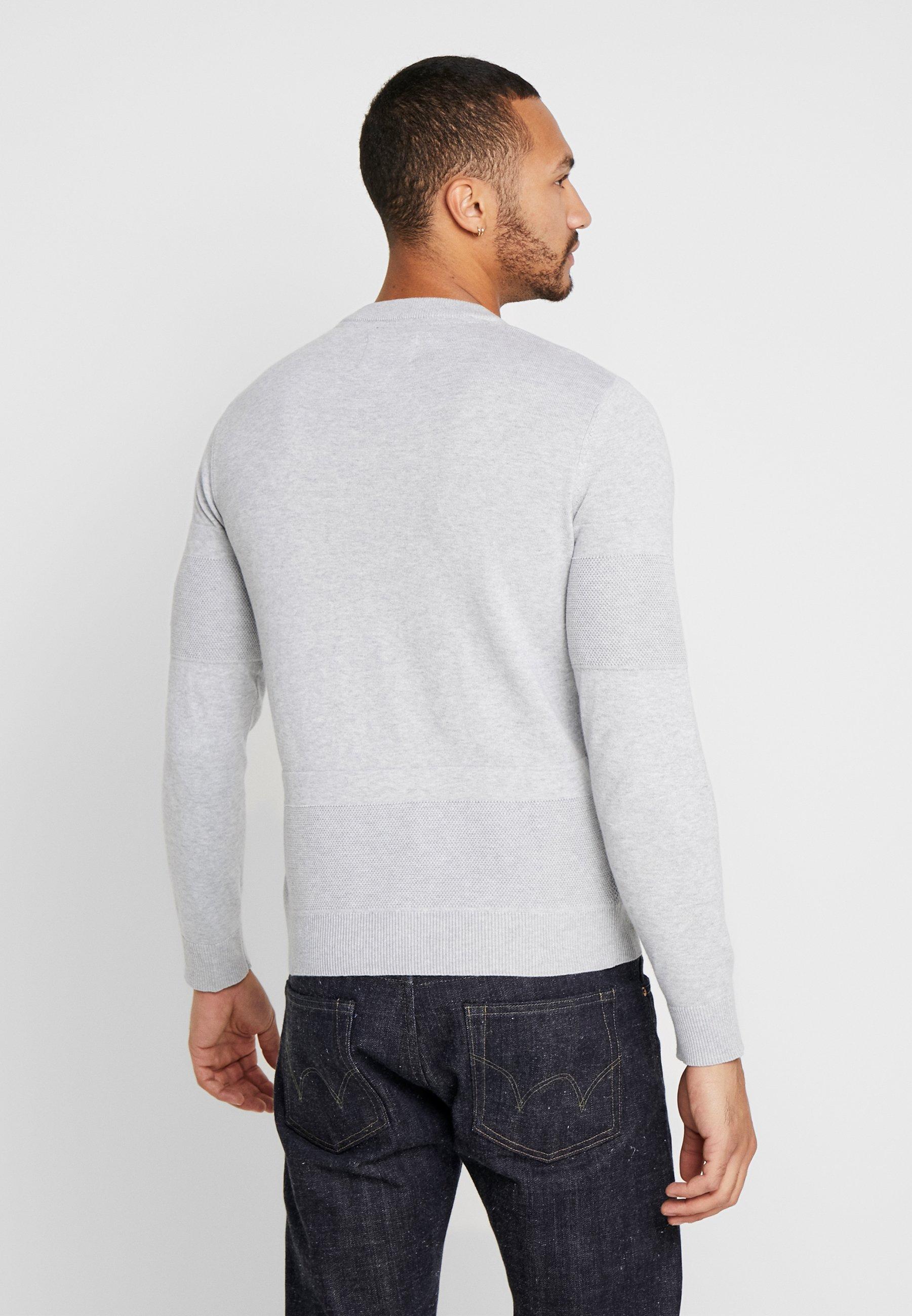Jack & Jones JCOSTATE CREW NECK - Sweter - light grey melange