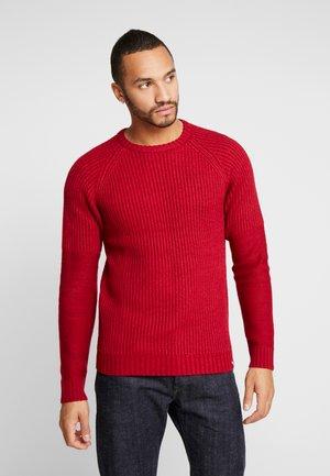 JCOPIKE CREW NECK - Stickad tröja - rio red