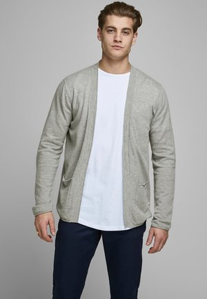 Strickjacke - light grey melange