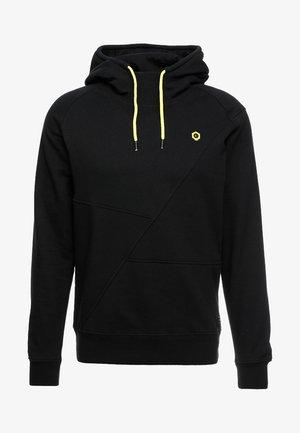 JCOPINN HOOD REGULAR FIT - Hoodie - black/yellow string