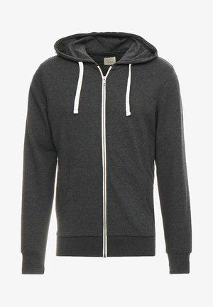 JJEHOLMEN - Zip-up hoodie - dark grey melange