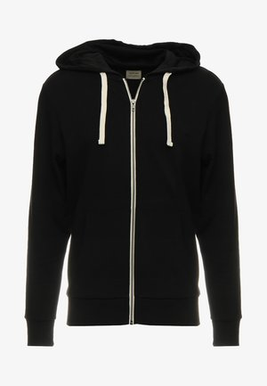 JJEHOLMEN - Zip-up hoodie - black/reg fit