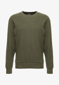 Jack & Jones - JJEHOLMEN CREW NECK - Sweatshirt - olive night - 4