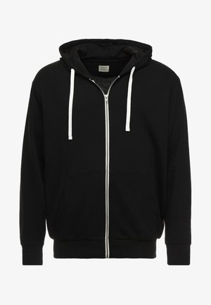 JJEHOLMEN  ZIP HOOD PLUS - Mikina na zip - black