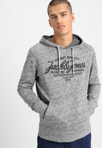 Jack & Jones - JEPANTHER - Mikina s kapucí - light grey melange - 0