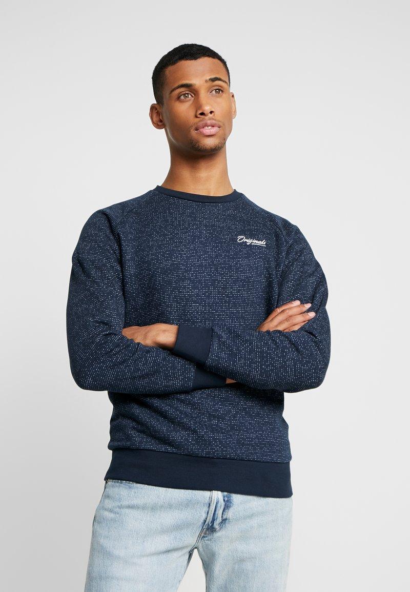 Jack & Jones - JORHIDE CREW NECK - Sweatshirt - navy blazer