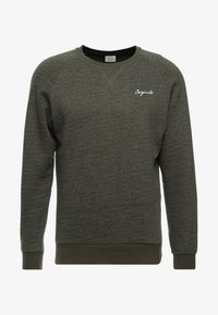 Jack & Jones - JORHIDE CREW NECK - Bluza - forest night - 3