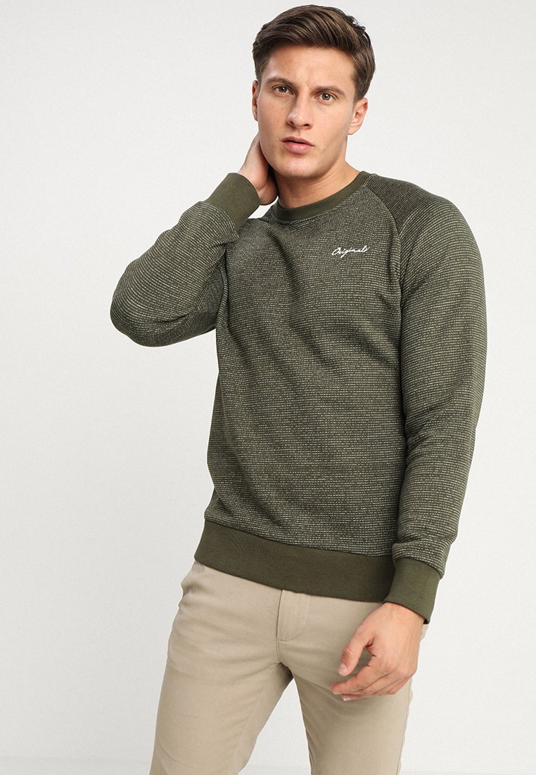 Jack & Jones - JORHIDE CREW NECK - Bluza - forest night