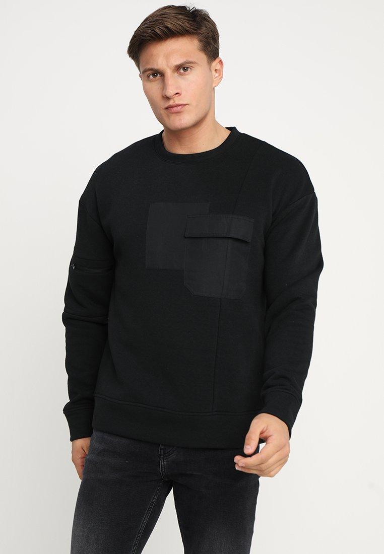 Jack & Jones - JCOBILL CREW NECK - Sweatshirt - black
