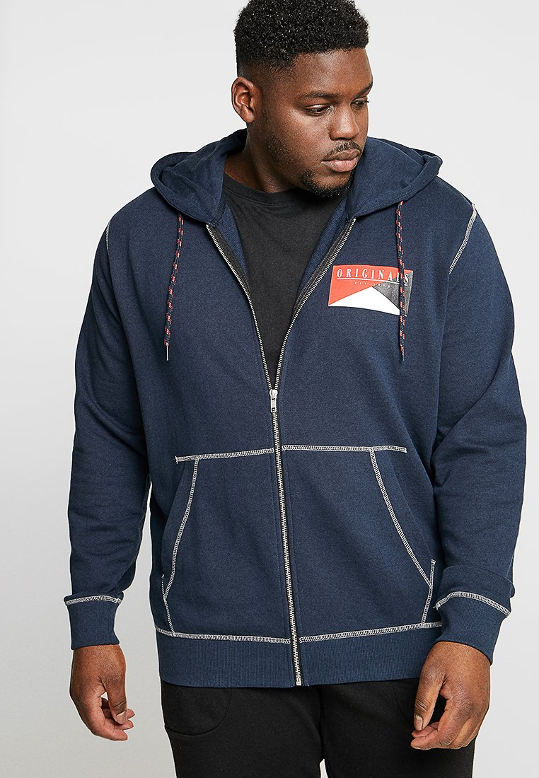 Jack & Jones - JORBROOK ZIP HOOD - Sweatjacke - total eclipse