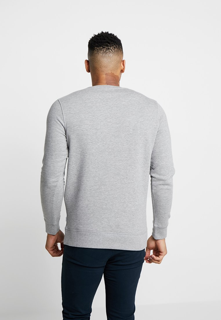 Jackamp; Jones Jjechest Grey Light Logo NeckSweatshirt Crew Y6yI7gbmfv