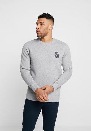 JJECHEST LOGO CREW NECK - Sweatshirt - light grey