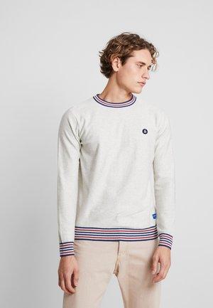 JORFOLLOW CREW NECK - Stickad tröja - white melange