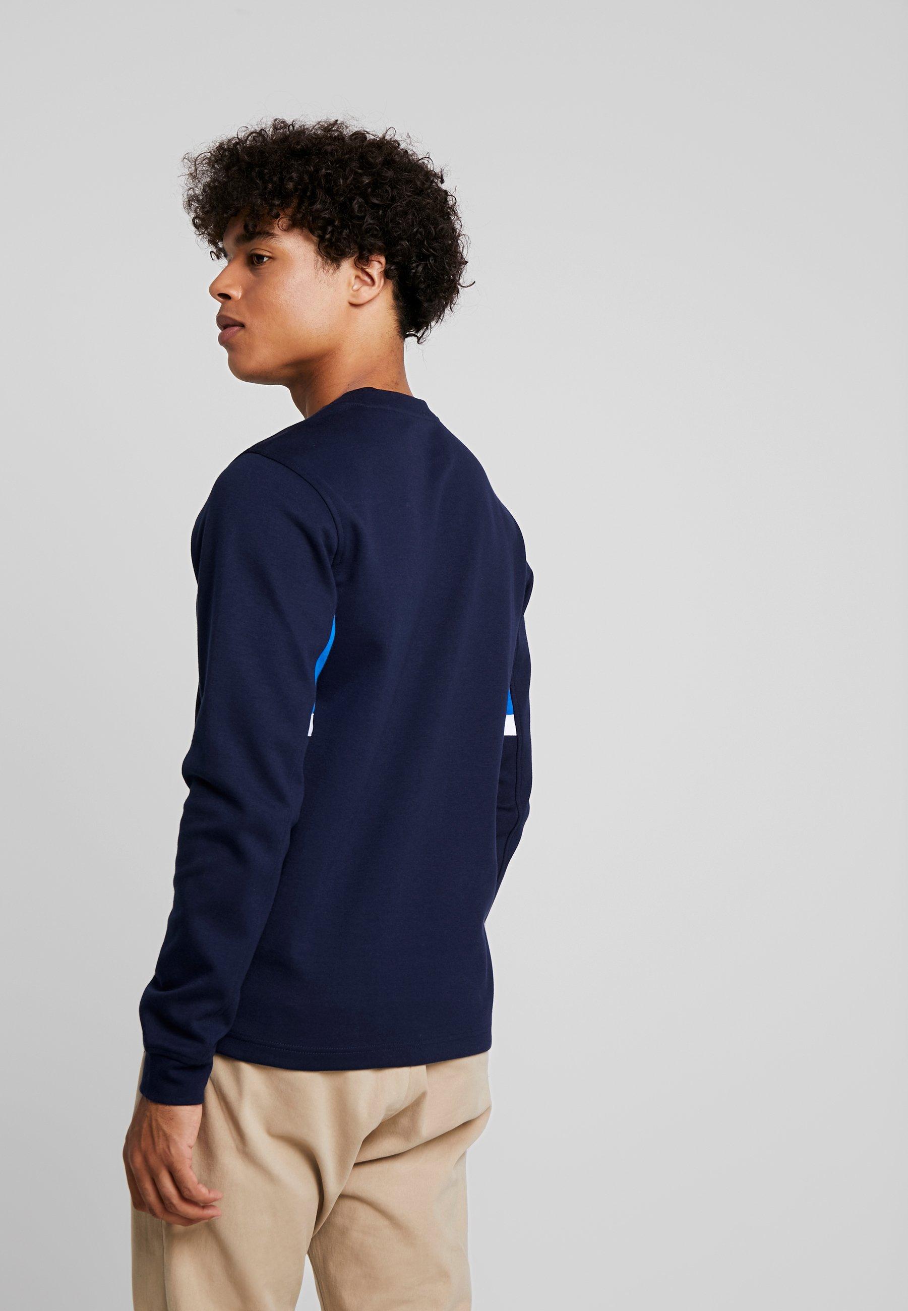 À Crew Maritime shirt Longues Jones Jcoleon Jackamp; Manches Blue NeckT nwyOvmN80