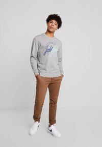 Jack & Jones - JORRIVAL CREW NECK - Sweater - light grey melange - 1