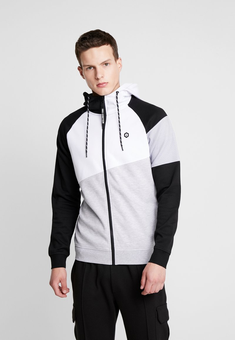 Jack & Jones - JCOTAKE ZIP HOOD - veste en sweat zippée - white