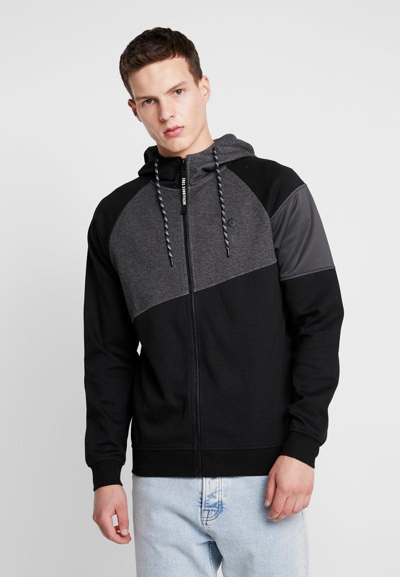 Jack & Jones - JCOTAKE ZIP HOOD - Zip-up hoodie - black