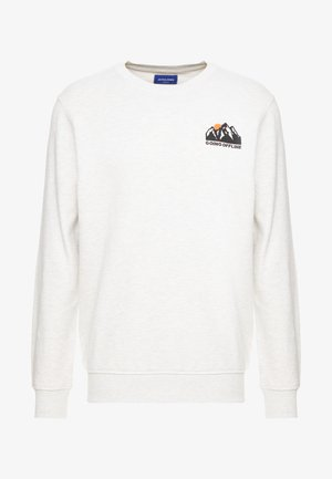 JORPUBLISH CREW NECK - Sweatshirt - cloud dancer/authentic melange