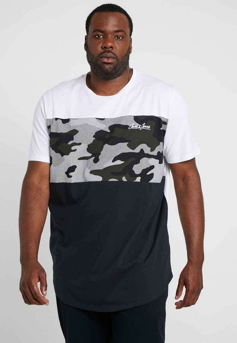 Jack & Jones - JORCAMOPARK TEE CREW NECK - T-Shirt print - white