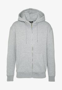 Jack & Jones - JJESOFT ZIP HOOD - Zip-up hoodie - light grey melange/relaxed - 4