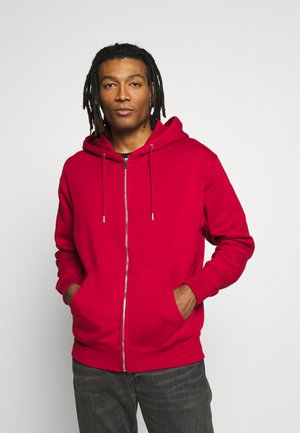 JJESOFT ZIP HOOD - Zip-up hoodie - rio red