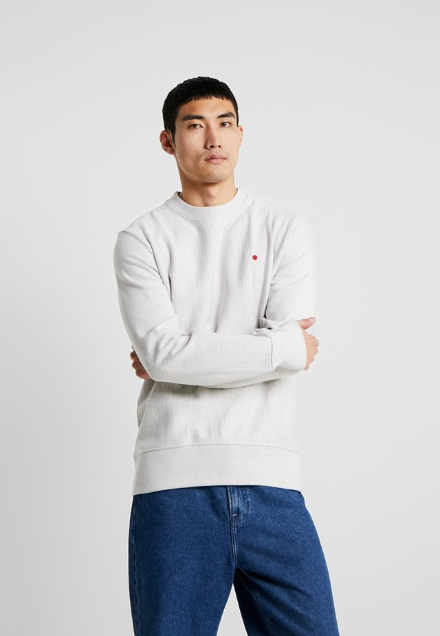JJ-RDD BASIC CREW NECK - Sweatshirt - white melange