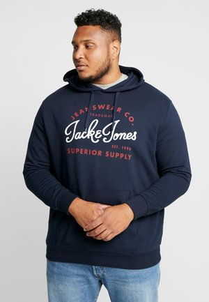 JJELOGO HOOD - Sweat à capuche - navy blazer