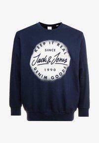 Jack & Jones - JORSPRAYED CREW NECK - Collegepaita - navy blazer - 4