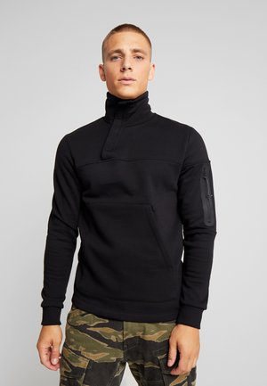 JCOMOSS HIGH NECK - Sweater - black