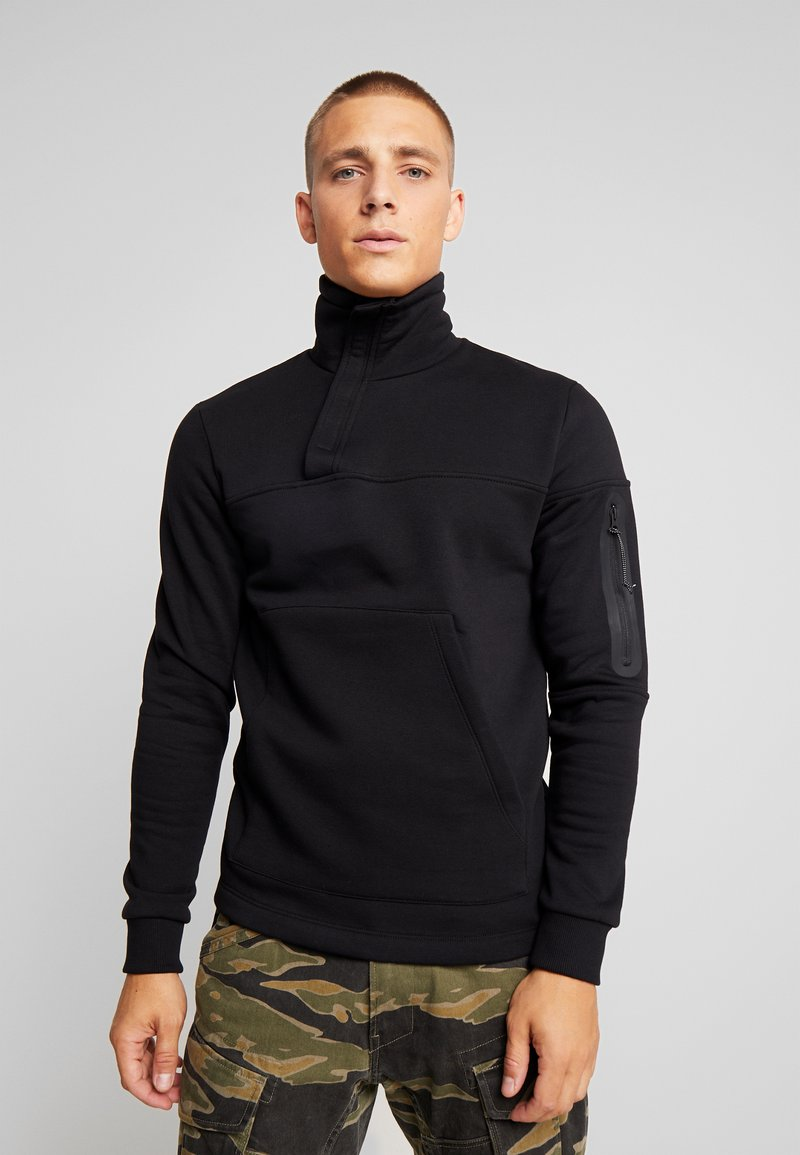 Jack & Jones - JCOMOSS HIGH NECK - Sweatshirt - black