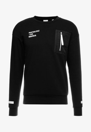 JCOBEAT CREW NECK RELAXED FIT - Sweater - black