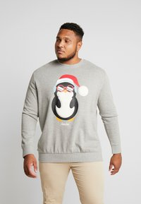 Jack & Jones - JORSNOWFALL CREW NECK  - Sweatshirt - light grey melange - 0