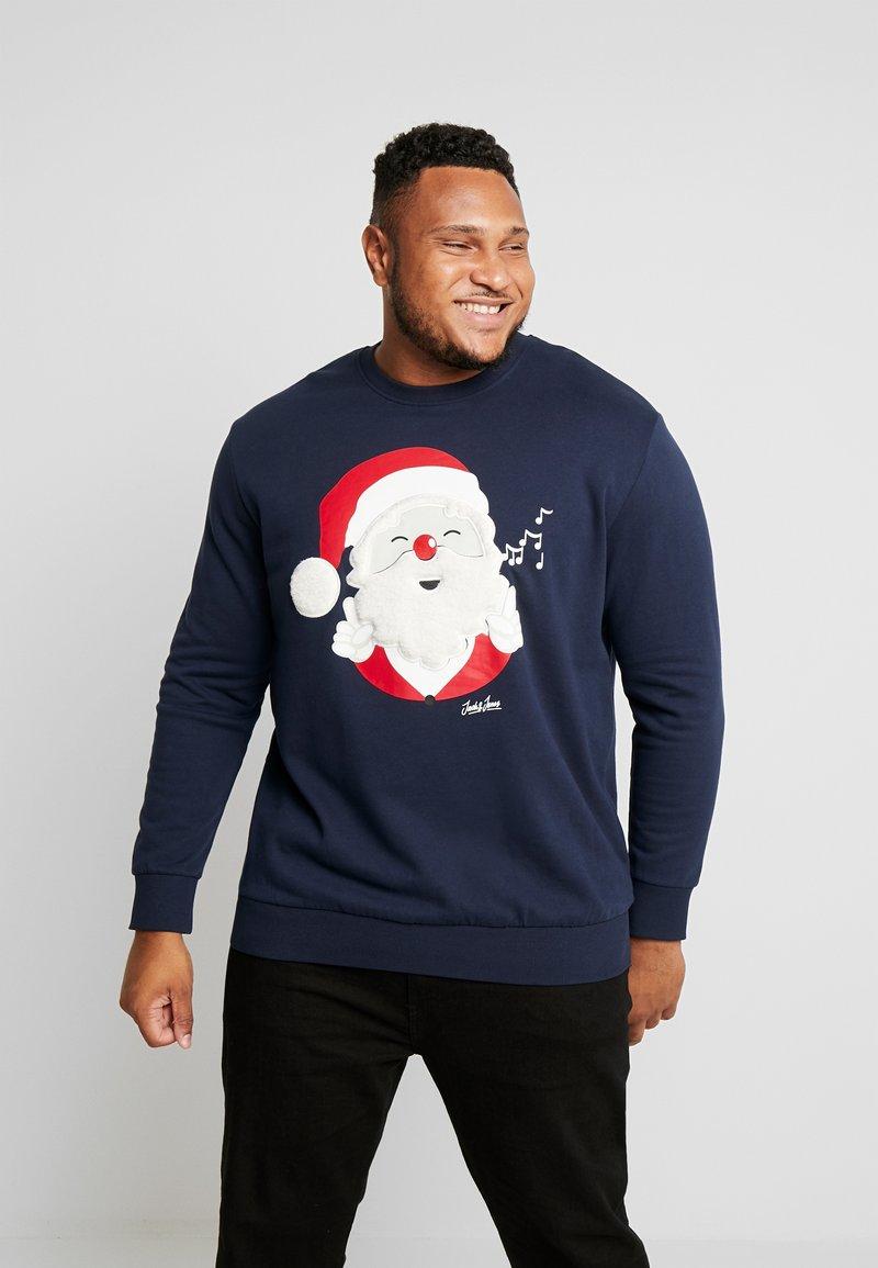 Jack & Jones - JORSNOWFALL CREW NECK  - Sweater - navy blazer