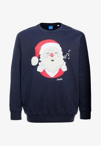 Jack & Jones - JORSNOWFALL CREW NECK  - Mikina - navy blazer - 3