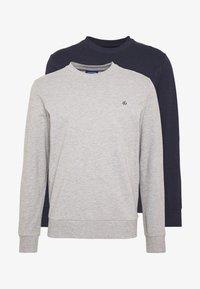 Jack & Jones - JORBASIC CREW NECK 2 PACK - Sweater - light grey melange - 4