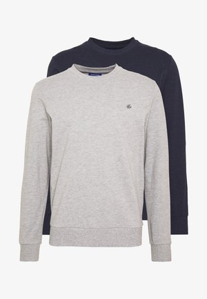 JORBASIC CREW NECK 2 PACK - Sweatshirt - light grey melange