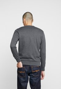 Jack & Jones - JORSNOWFLAKE CREW NECK - Sweater - dark grey melange - 2